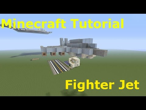 Minecraft Tutorial- How to Build a Fighter Jet (PS4,Xbox One, 360, PS3, PC)