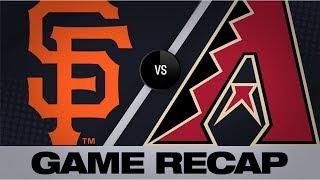 Jones, Kelly lift D-backs to 6-1 win | Giants-D-backs Game Highlights 8/18/19