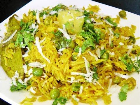 मटार भात | Matar Bhat | Matar Rice by madhurasRecipe