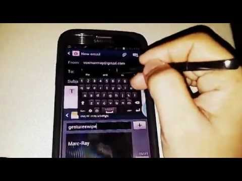 Galaxy Note 2 Multi-View/Swipe and Movable Keyboard