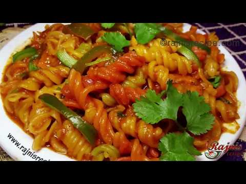 Easy Indian Style Veg Chilli Pasta Recipe -Low oil healthy  Red Sauce Pasta Recipe