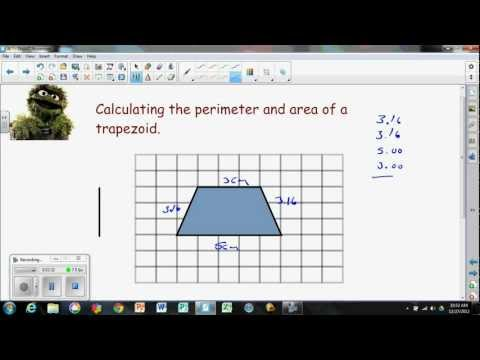 Perimeter and Area of a Trapezoid