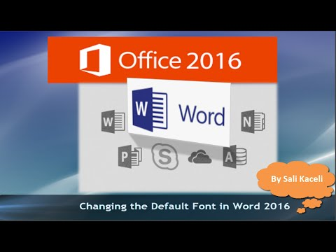 How to Set the Default Font in Word for any New Documents