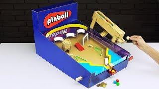 DIY Money Operated Amazing Pinball Game Gumball Vending Machine