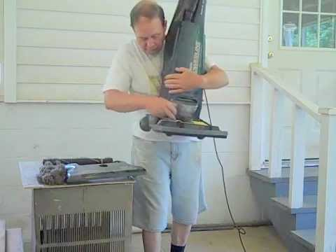 Unblocking Hoses and Replacing Belt on a Eurika Vacuum Cleaner