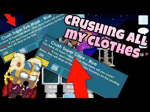 Crushing All my Clothes (OMG!)| Growtopia