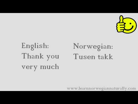 Basic Norwegian Expressions and Words with Pronunciation