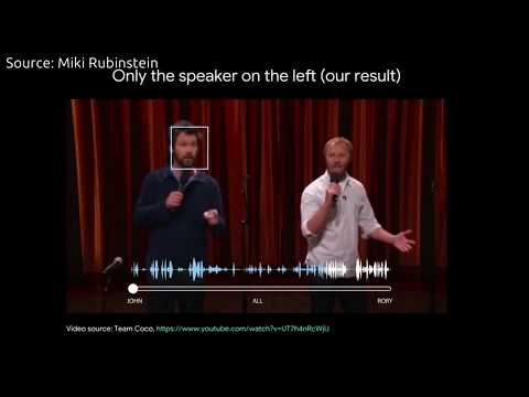 Google develops Audio-Visual model for isolating Single Voice in Crowd