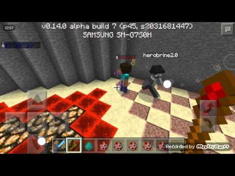 Minecraft PE Mob Battle - Herobrine VS Notch