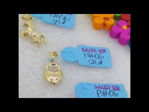 18K Saudi Gold Pendant