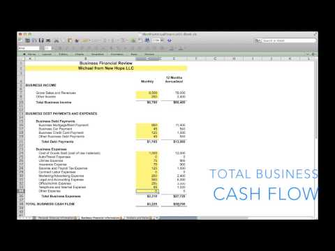 Month and Annual Financial Projection Template