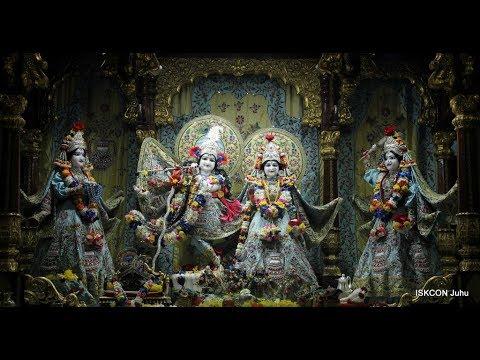 Sri Sri Radha Rasbihari Temple Sandhya Arati Darshan 30th May 2018 Live from ISKCON Juhu, Mumbai