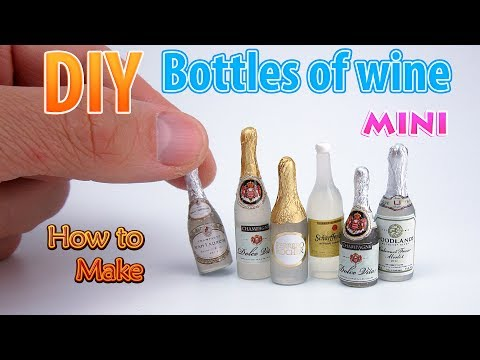 DIY Miniature Wine Bottles| DollHouse | No Polymer Clay!