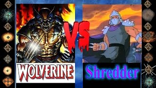 Wolverine ( Marvel Comics ) Vs Shredder ( Tmnt ) -  Ultimate  Mugen Fight 2014
