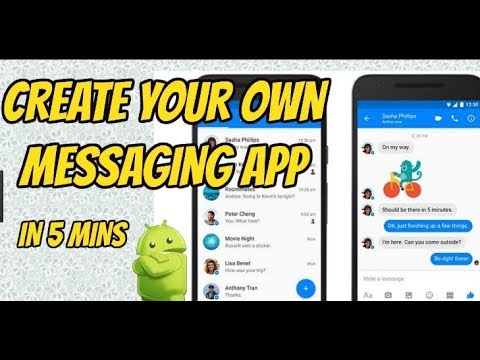 How to create your own messenger android app like whatsapp without coding in URDU | Hindi