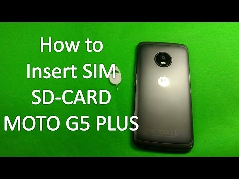 How to Insert sim card in Moto G5 Plus | SD Card