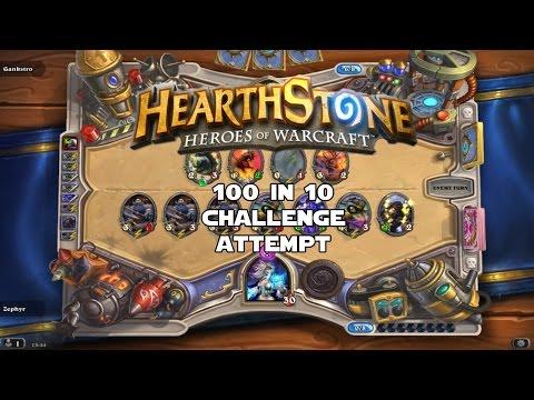 Hearthstone - 100 in 10 - Deckbuilding & Game 1
