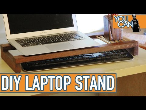 Upcycled Laptop Stand/Desk Organizer