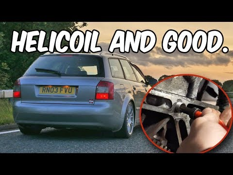Man with Helicoil Kit vs. Damaged Threads. (feat. Good Car)