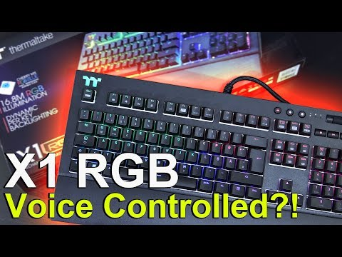 VOICE CONTROLLED Keyboard?! -- TT Premium X1 RGB