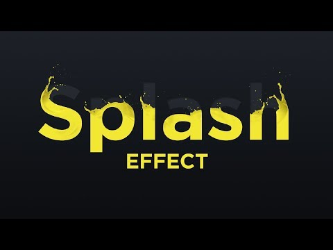 Create a Splash Text Effect in Photoshop