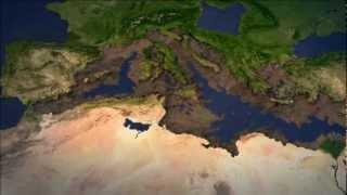 Mediterranean isolation and partial desiccation - Messinian Salinity Crisis, a possible scenario