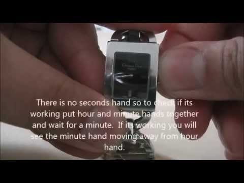 How to change the battery on a ladies Christian Dior Watch.