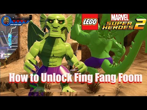 How to Unlock Fing Fang Foom - Lego Marvel Super Heroes 2