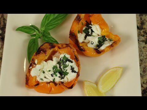 Grilled Bell Peppers With Goat Cheese, Herbs & Lemon by Rockin Robin