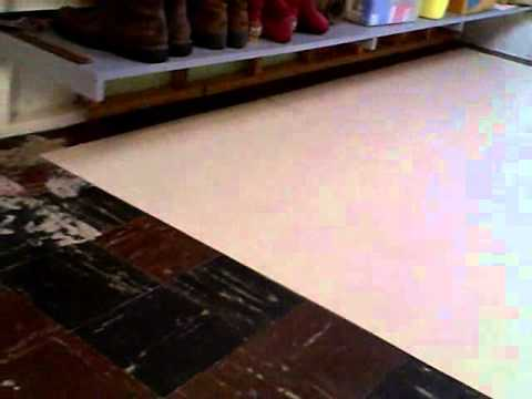 Laying Armstrong 12x12 Peel & Stick Vinyl Tiles Is Easy