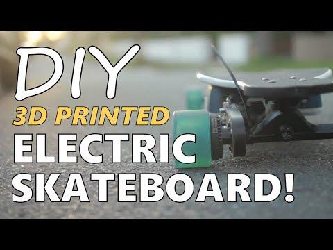 I Built My Own DIY Electric Skateboard - 3D Printed!