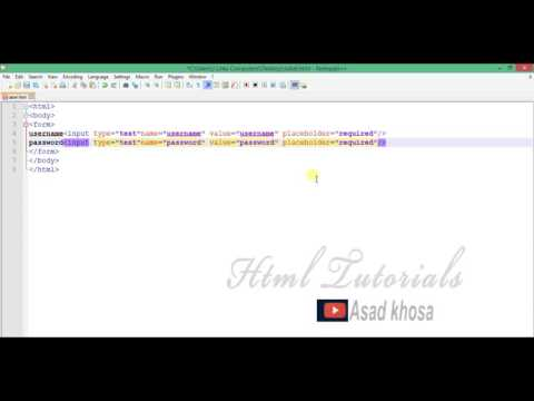 14 how to creat simple form in html urdu/hindi tutorials