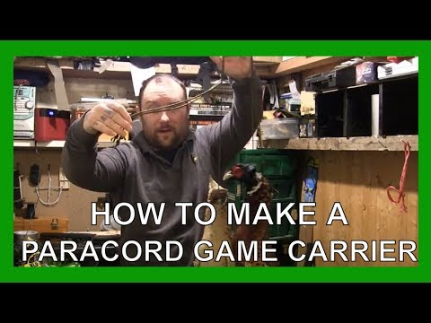 How To Make A Paracord Game Carrier