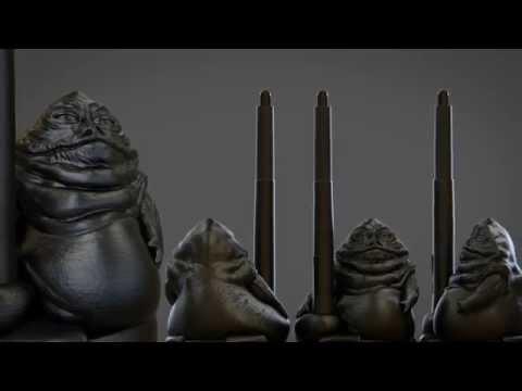 Wacom 3D Printed custom Pen Holder: Jabba Edition