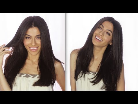 How To Cut Your Clip-In Extensions | How To Hairstyles + Hair Tutorials | Teni Panosian