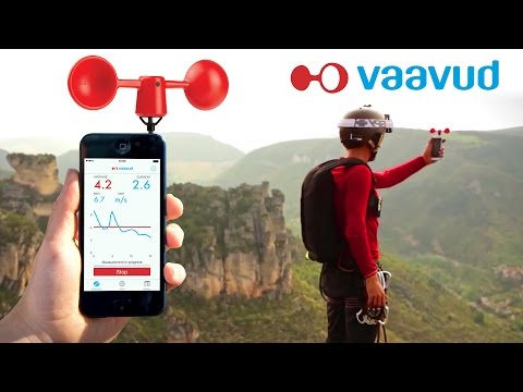 VAAVUD Wind Meters for iphone and Android devices.