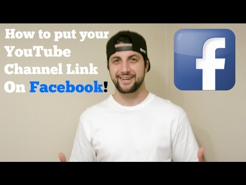 How to put your YouTube Channel Link on Facebook!