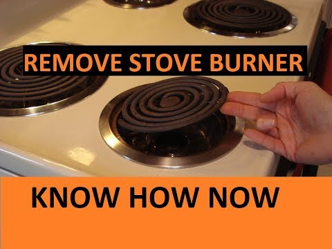 How to Remove Electric Stove Burners    Coil Type