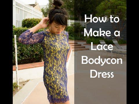 DIY Lace Bodycon Dress