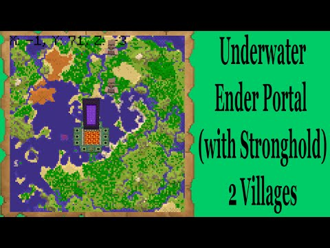 Minecraft Console Seed- Underwater Ender Portal (with stronghold) 2 Villages