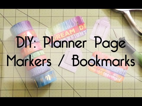 How to Make Planner Page Markers / Bookmarks