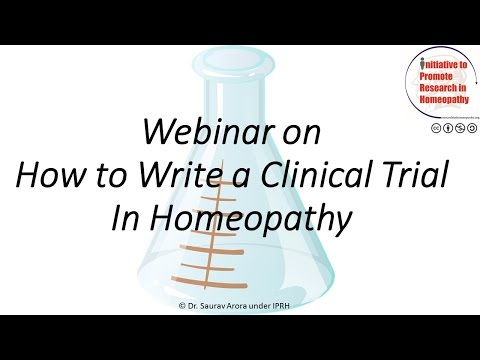 How to write a Clinical Trial in Homeopathy
