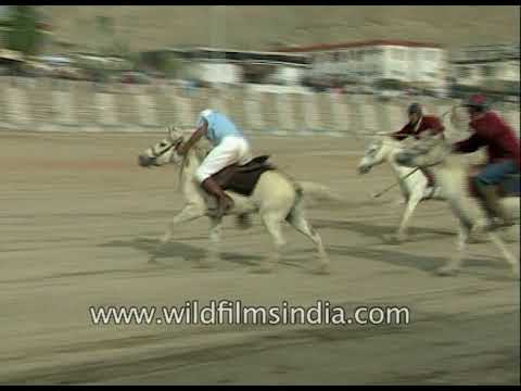 Crowd gathers to watch Polo match in Ladakh