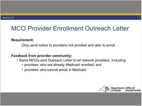 11.8.2017 OMH Medicaid Provider Enrollment Webinar