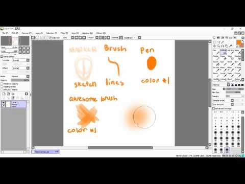 My Brushes and Tools in Paint Tool Sai!!!!! OMG (+