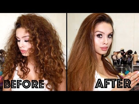 How I straighten my hair perfectly!! (Naturally curly thick hair)