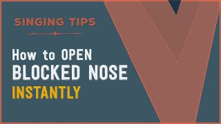SINGING TIPS | How to Open a Blocked Nose Quickly | VOCAL NEBULA