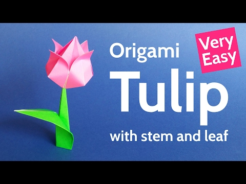 Origami Tulip Flower 🌷 Easy Tutorial for Valentine's Day, Mother's Day and Spring