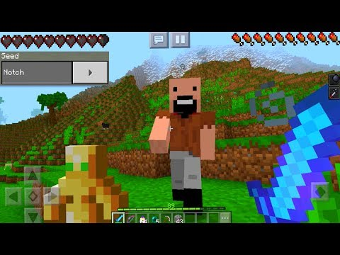 Top 2 Seeds to Find NOTCH in Minecraft Pocket Edition (REAL)