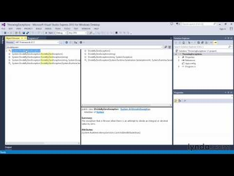 05 04 Working with exception classes in the  NET Framework